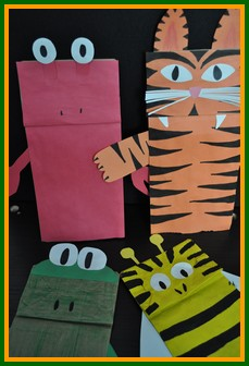 Animal Crafts For Kids Paper Bag Puppets From All Over The Animal
