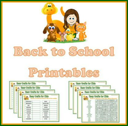 Back To School Printables And Activities Make The Return To School