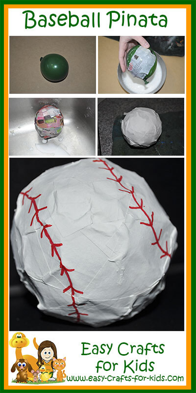 Baseball Pinata Instructions