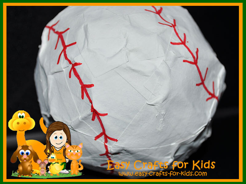 paper ball bat craft baseball crafts for baseball pinata 5068