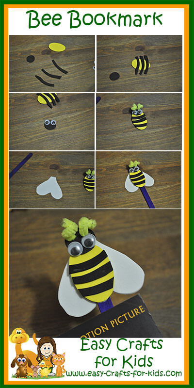Step by Step Instructions for Our Bee Bookmark