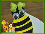 Spring bookmark craft with bee