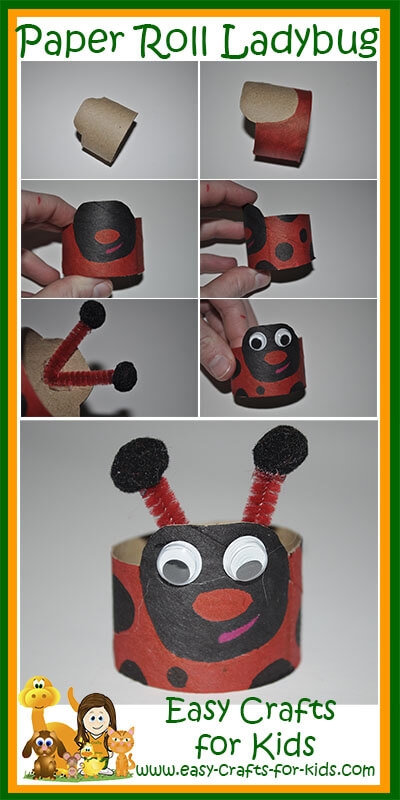 Step by Step Instructions for our Ladybug Crafts