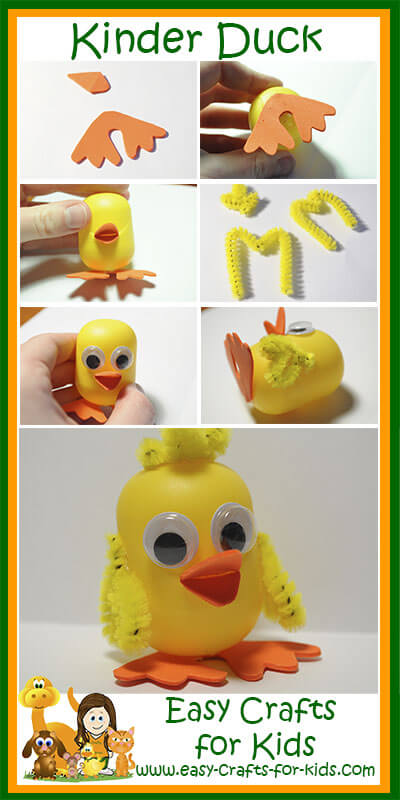 Step by Step Instructions for Our Kinder Duck
