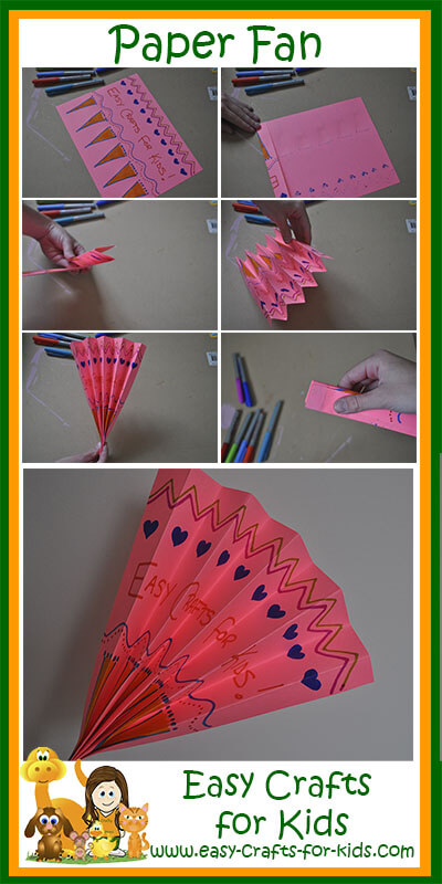 Instructions For Our Paper Fan Craft