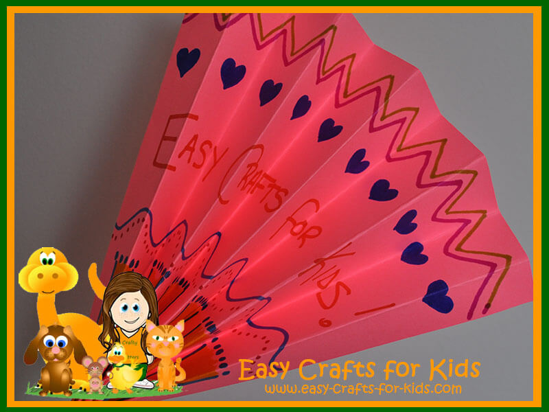 Easy Paper Craft - Paper Fan
