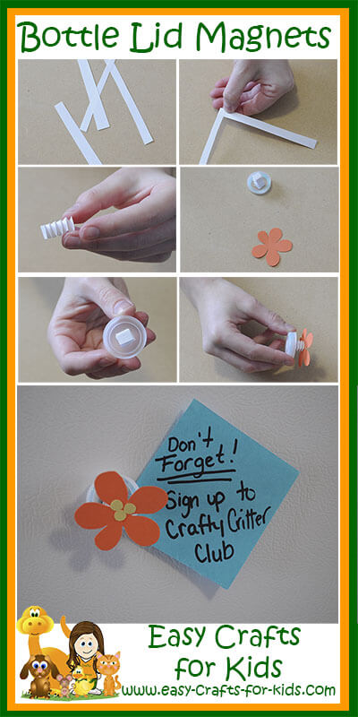 Step by Step Instructions for Our Easy Spring Magnets