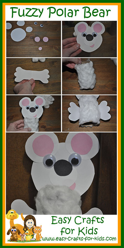 Fuzzy Polar Bear Craft Instructions