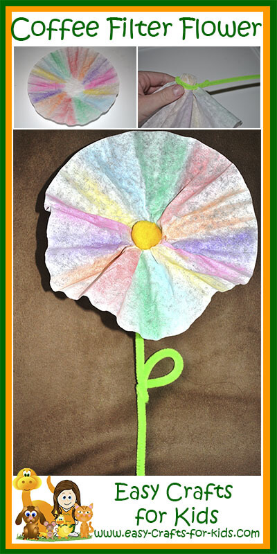 Step by Step Instructions for our Coffee Filter Flower Crafts for Kids