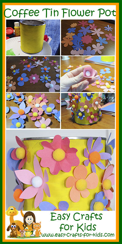 Step by Step Instructions for our Flower Pot Crafts for Kids