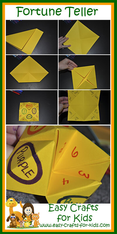 How to create our paper fortune tellers