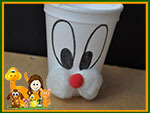 easter bunny styrofoam cup craft