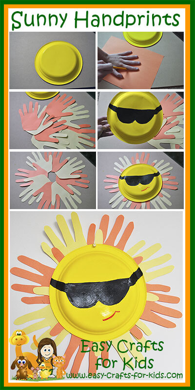Step by Step Instructions for our Free Summer Crafts