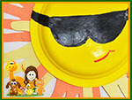 Free Summer Crafts - Sunny Handprints