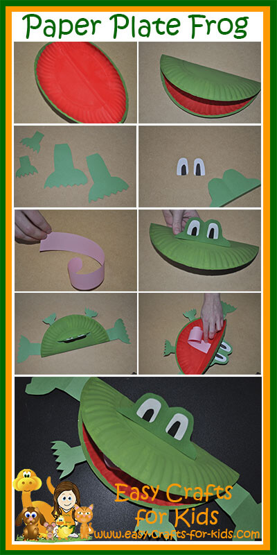 Step By Instructions For Our Paper Plate Frog Crafts Kids