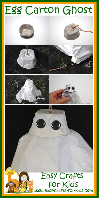 ghost egg carton crafts