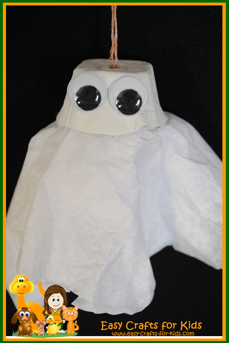 Halloween craft for kids spooky little ghost for Crafts for little kids