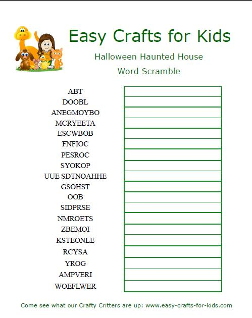 Jamoble kids crafts for Window unscramble