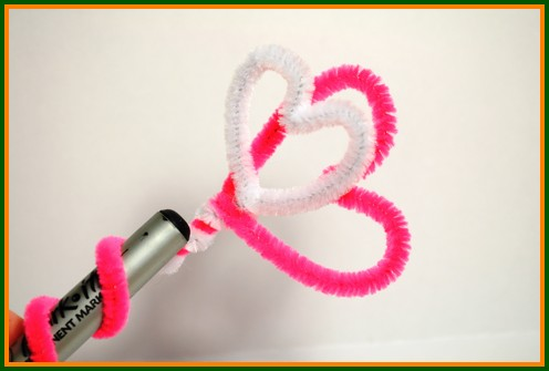 kids heart pencil topper