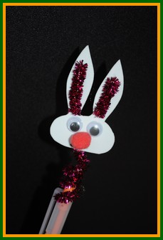 Easter pencil topper craft