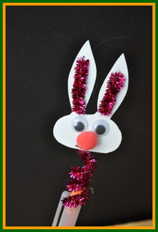 Kids Easter Crafts A Bobble Easter Bunny Critter For The Top Of