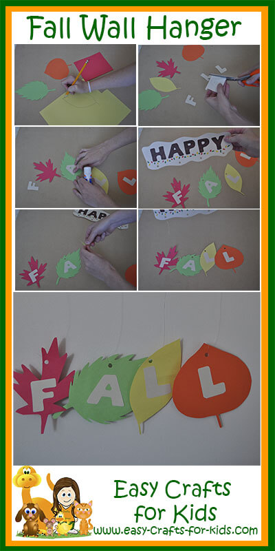 Classroom Decoration Easy ~ Kids fall crafts a cute decoration to hang up this