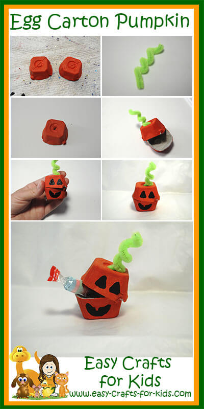 How to: Egg Carton Pumpkin Crafts