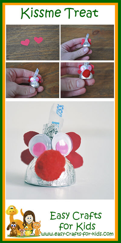 Hershey Kiss Valentine craft for kids