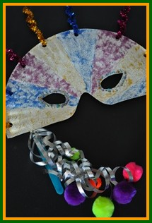 Crafts easy for kids for Mardi gras masks crafts