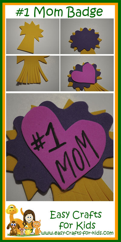 mothers day crafts for kids - mom badge