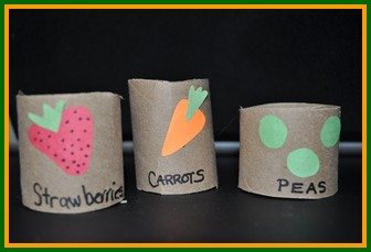 vegetable toilet paper roll craft