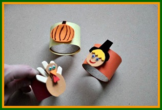 easy thanksgiving craft toilet paper rolls into napkin rings with