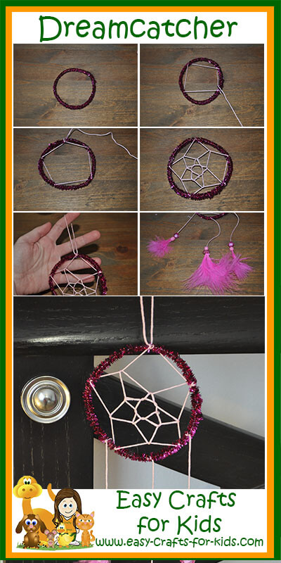 Instructions for our Home-Made Dreamcatchers