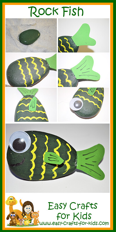Outdoor crafts for kids create a rock fish for Step 2 rocking fish