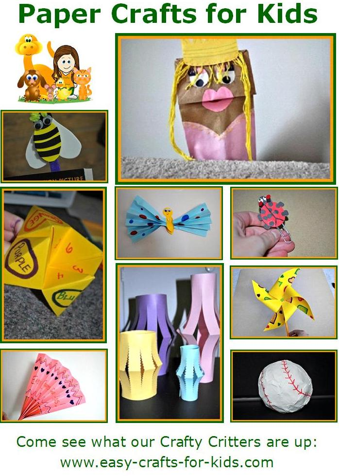 Paper crafts for kids for Easy and fun crafts for kids