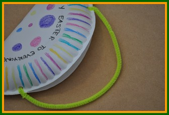Step #4 & Easter Kids Crafts - Turn a paper plate into a treat basket!