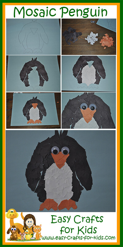 Penguin Crafts For Kids Fun Mosaic Penguin