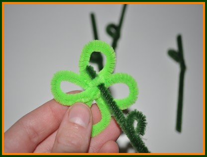 pipe cleaner flower bouquet step by step craft procedure
