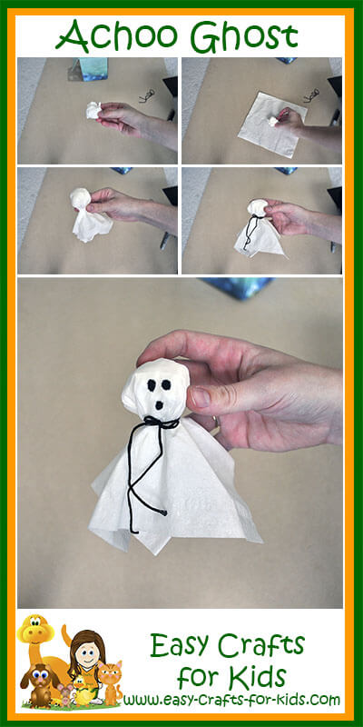 how to make ghosts out of tissues