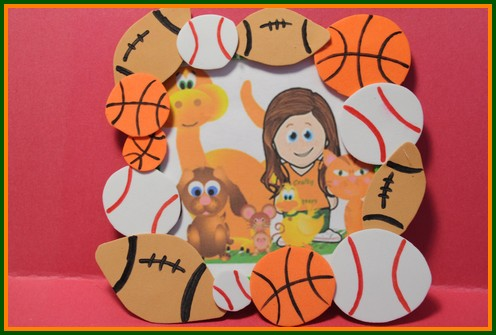 Sports crafts for kids baseball basketball football for Cheerleading arts and crafts
