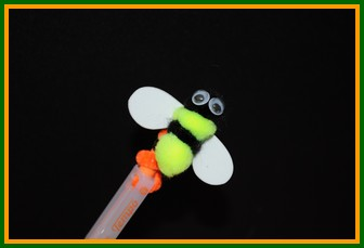 bee pencil topper craft