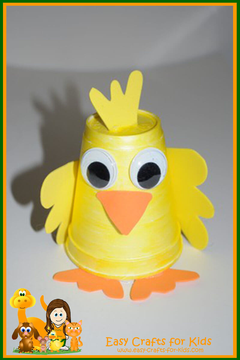 Wonderful Easy Craft Ideas For Kids Part - 14: Spring Craft Ideas For Kids - Cup Duckling