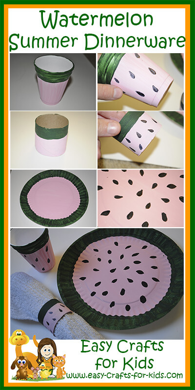 Time to Complete & Summer Preschool Crafts - Summery themed dinnerware for your BBQu0027s ...