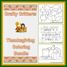 Thanksgiving coloring bundle