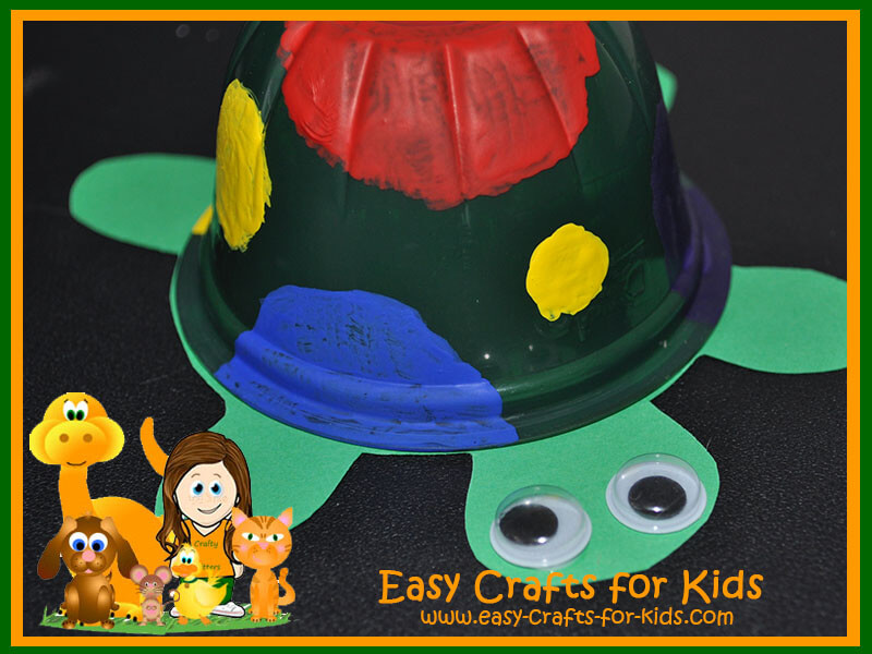 Classroom Decoration Kids ~ Turtle crafts for kids recycled fruit cups turned into