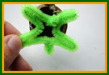 how to make a turtle from walnuts and pipe cleaners