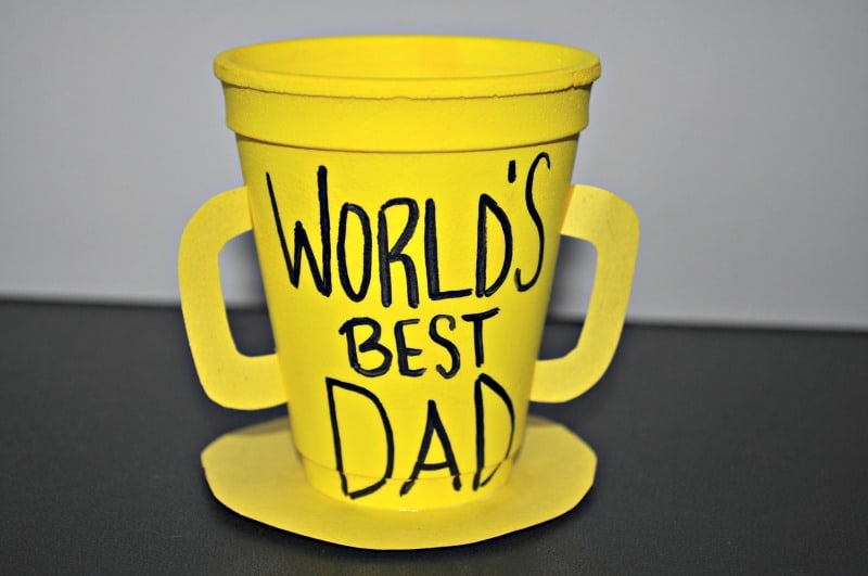 World best dad trophy