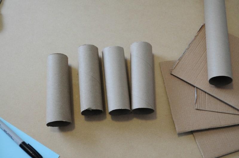 Cut paper rolls in half