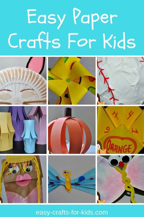 Check out these easy paper crafts for kids. Get your child creative juices going with these simple to make crafts for boys and girls. Make some bookmarks, masks, butterflies, puppets and many other fun activities that will keep your kids busy and happy year round. #kidscrafts #easycraftsforkids #papercrafts #papercraftsforkids #crafts