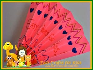 Easy folded paper fan